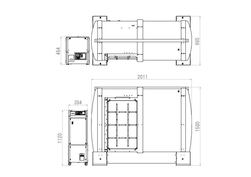 OVAL設置寸法図