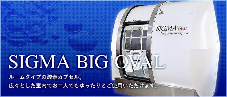 SIGMA BIG OVAL ルームタイプの酸素カプセル。広々とした室内でお二人でもゆったりとご使用いただけます。