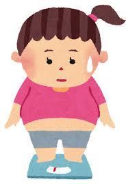 基礎代謝が低いために体重が落ちないイラスト